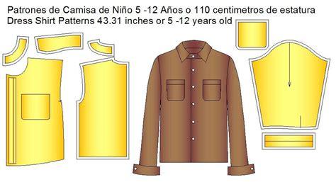 moldes de ropa y patrones para diseo de prendas en todas moldes de camisa de ni 241 os moldes de ropa y sistemas de