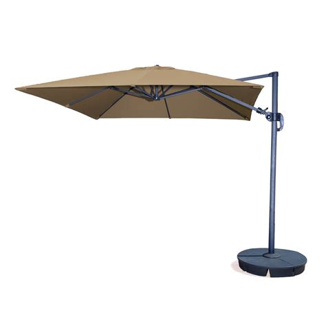 Offset Patio Umbrella Lowes Shop Swim Time Square Offset Patio Umbrella With Crank Common 10 Ft X 11 Ft 4 In Actual