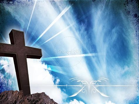 Reborn Church Powerpoint Template Easter Sunday Resurrection Powerpoints Church Powerpoint Background