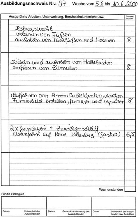 Praktikum Berichtsheft Vorlage Zulassungsvoraussetzung F 252 R Die Gesellenpr 252 Fung Das Berichtsheft Bm