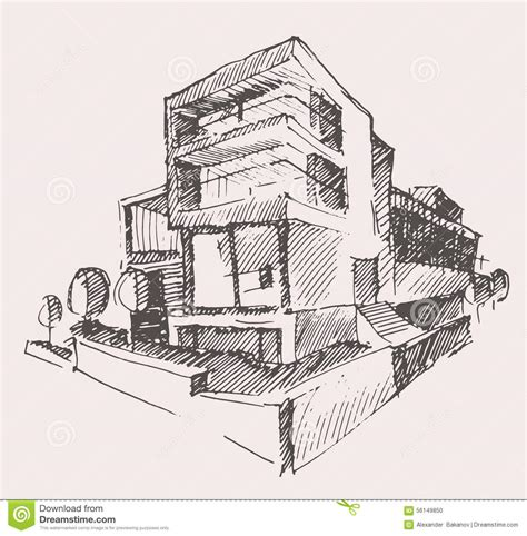 draft a blueprint of your home architect draft modern new house building concept stock vector image 56149850