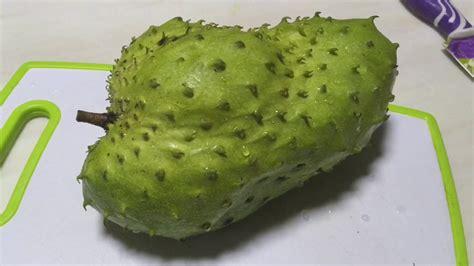 cut soursop fruit whats  tasting durian