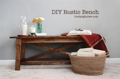 how to make a rustic bench diy rustic wood bench live laugh rowe
