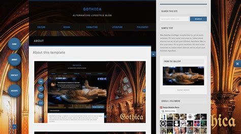 blogger themes gothic gothica dark animated blogger template by virtutimilitary