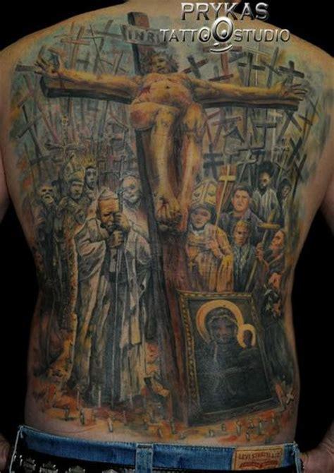 religious tattoo history religious crux tattoo by prykas tattoo