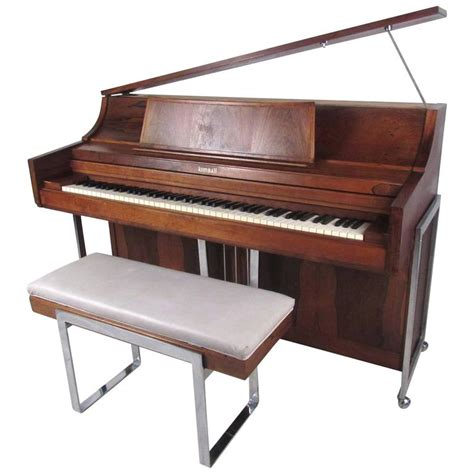 exquisite midcentury rosewood piano by kimball at 1stdibs