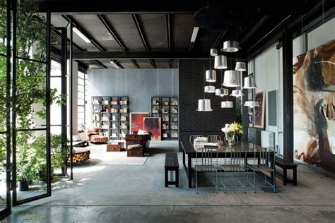 home design warehouse miami milan loft design with dark industrial metals in decor