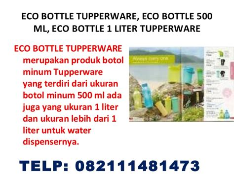 Tupperware Botol Minum 500ml botol minum eco bottle tupperware eco bottle 500 ml eco