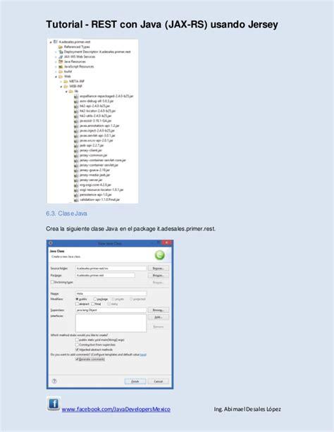 jersey tutorial web xml tutorial rest con java jax rs 2 0