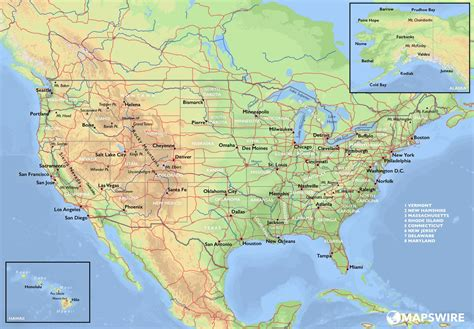 maps of the usa pictures of map of the united states colorful vector map