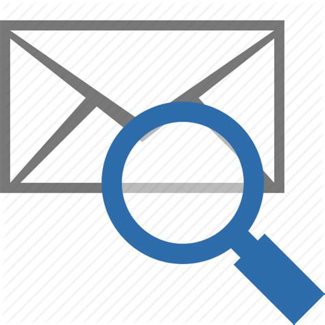 How To Search By Email On Email Envelope Find Mail Message Search View Icon