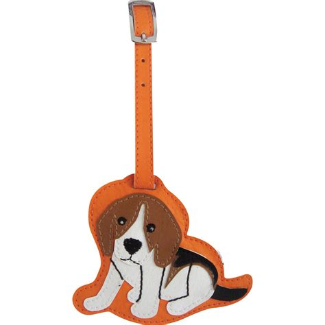 puppy suitcase beagle luggage tag briefcase backpack travel id ebay