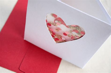 What To Make With Coloured Paper - valentine s day card with confetti made of newspapers and
