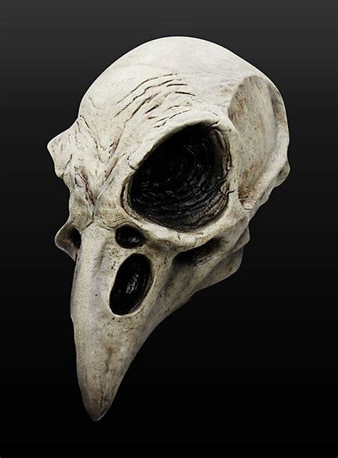Home Decorations For Halloween by Raven Skull Latex Full Mask