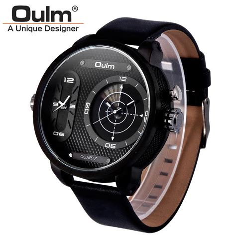 Oulm Analog Quartz Stainless Steel Band Fashion 9316 Black oulm analog quartz stainless steel band fashion