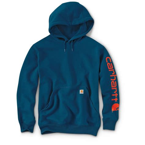 Hoodie Sweater Vespa Front Logo carhartt s signature sleeve logo midweight hooded