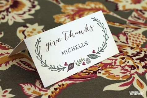 Free Printable Thanksgiving Place Cards Thanksgiving Place Cards Template