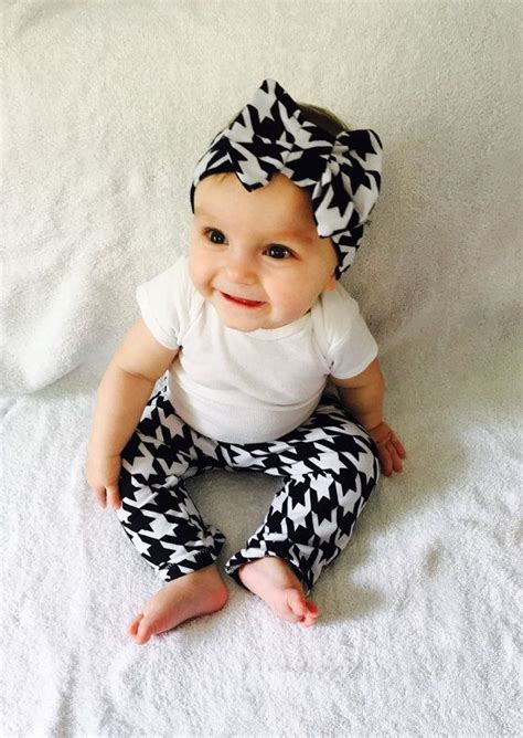 Legging Fashion Baby Sorex K5303 high fashion baby couture houndstooth baby and headband deuxpardeuxkids fashion