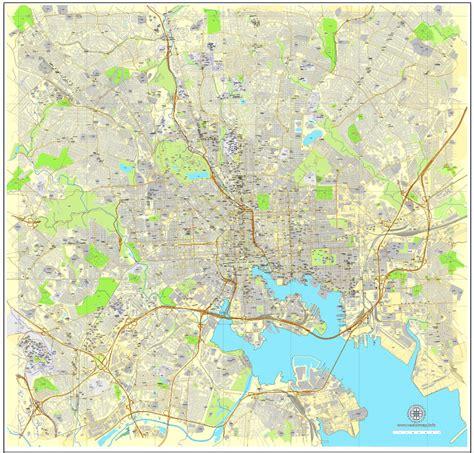 maryland map city baltimore maryland us printable vector city plan