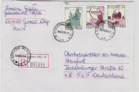 Brief Schweiz Nach Deutschland Frankieren Philaseiten De Einschreibezettel Mit Und Ohne Stempel Weltweit