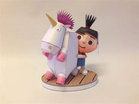 Despicable Me Papercraft - how to make agnes despicable me papercraft