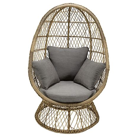wicker egg chair cushion garden egg chair in resin wicker with grey cushion st