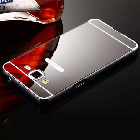 Galaxy Note 2 With Backcase Mirror for samsung galaxy phones luxury aluminum metal bumper