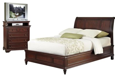 transitional bedroom furniture lafayette sleigh headboard and media chest
