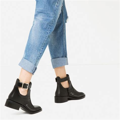 Sneakers Lay 453 flat open ankle boots view all shoes zara united states shoes only ankle