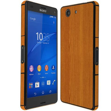 Hp Sony Z3 Mini skinomi techskin sony xperia z3 compact light wood skin protector
