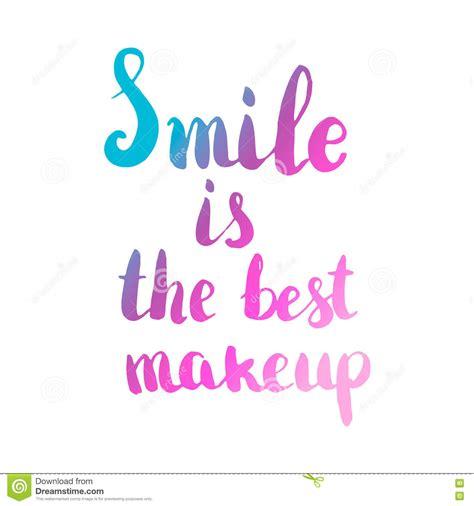 up letter maker de glimlach is de beste make up het getrokken