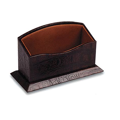 desk top business card holder