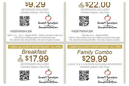 sweet tomatoes coupon dinner