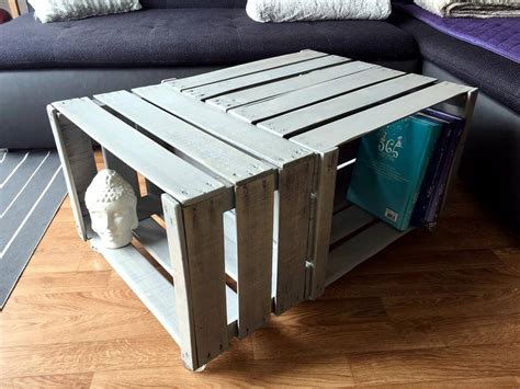 Coffee Table Made Of Crates Pallet Wood Made Crate Coffee Table 99 Pallets