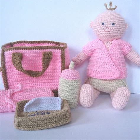 crochet pattern diaper bag crochet pattern baby doll with diaper bag by