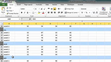 Designing Excel Spreadsheets Youtube Planogram Template Excel