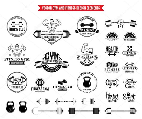 Fitness World Logo 8 sport and fitness logo templates logotypes and design