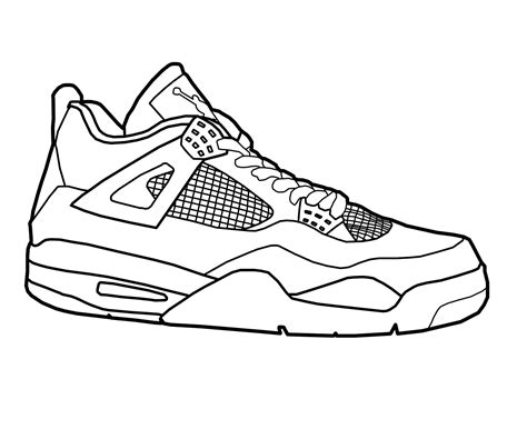 jordan shoe coloring pages for kids and for adults