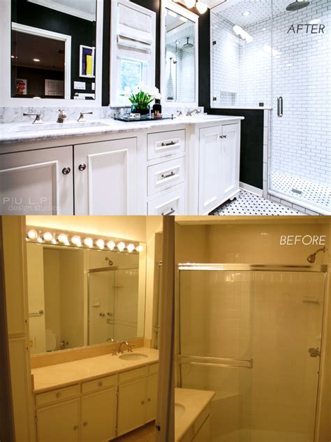 before and after master bathroom remodels before and after hip menagerie master bath remodel pulp