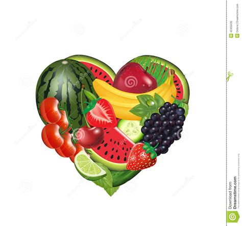 vegetables y fruits fruit in the shape of a