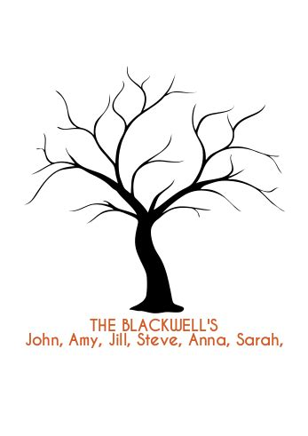 friendship tree template friendship tree template fingerprint tree family names