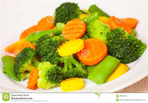 vegetables plate mixed vegetables on a plate stock photo image 46904512