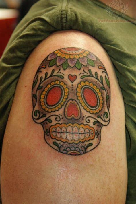 sugar skull shoulder tattoo sugar sugar skull on shoulder