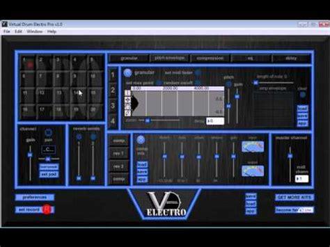 Tutorial Virtual Drum Electro Pro   how to use virtual drum electro pro video one youtube