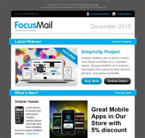 39 beautiful email newsletter templates neweb