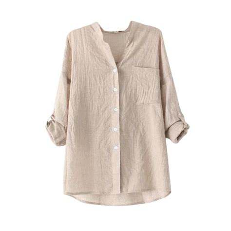Linen Cotton Sleeve Shirt womens cotton linen blouse sleeve tops casual sheer