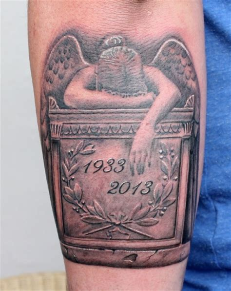 this is a tattoo called angel of grief this has my dad s maniackilla angel of grief tattoos von tattoo bewertung de