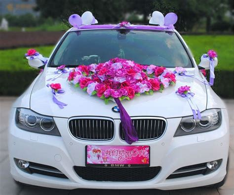 Decorate Wedding Car With Pink Flowers by Flower Festooned Vehicle Wedding Car Decoration Kit Korean