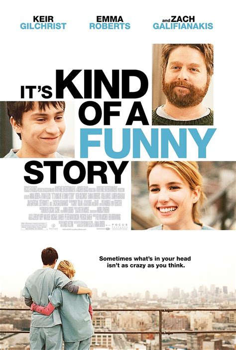 film it s all about love its kind of a funny story poster highlander