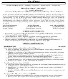 resume sample 5 senior executive resume career resumes quotes